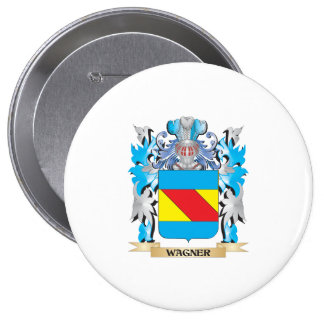 Wagner Coat of Arms - Family Crest 4 Inch Round Button
