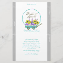 Wagon and Flowers Packet Template Wedding Favor