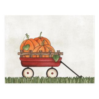 Wagon full of Pumpkins Postcards