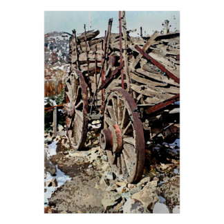Wagon, Gold Hill, Nevada Poster