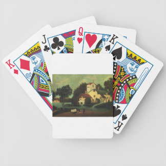 Wagon in Front of the Mill by Henri Rousseau Bicycle Playing Cards