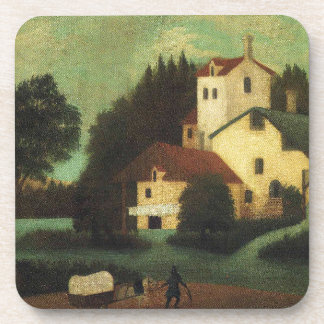 Wagon in Front of the Mill by Henri Rousseau Coaster