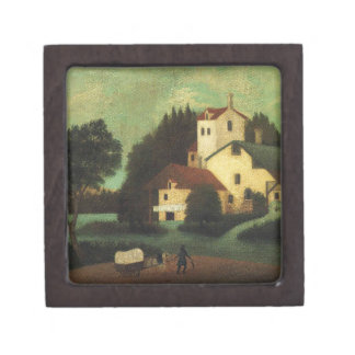 Wagon in Front of the Mill by Henri Rousseau Jewelry Box