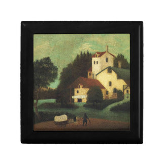 Wagon in Front of the Mill by Henri Rousseau Keepsake Box
