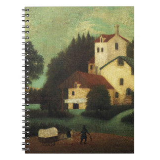 Wagon in Front of the Mill by Henri Rousseau Notebook