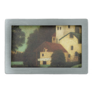 Wagon in Front of the Mill by Henri Rousseau Rectangular Belt Buckles