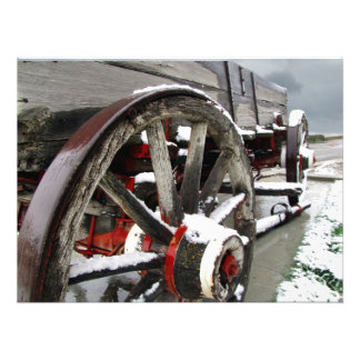 Wagon in the Snow Photo Print