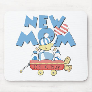 Wagon New Mom It s a Boy Mouse Mat