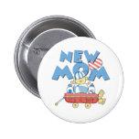 Wagon New Mom It's a Boy 2 Inch Round Button