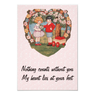 Wagon of Hearts Vintage Valentine Card
