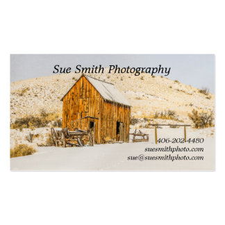 Wagon, Outhouse, Barn, American Bison, Buffalo Double-Sided Standard Business Cards (Pack Of 100)