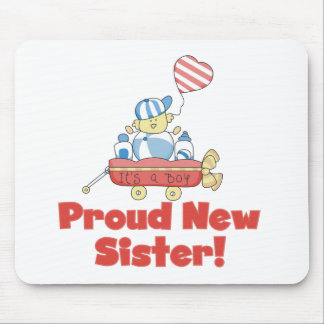 Wagon Proud New Sister It s a Boy Mouse Pads