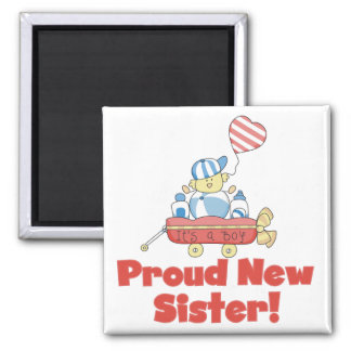 Wagon Proud New Sister Tshirts and Gifts Magnet
