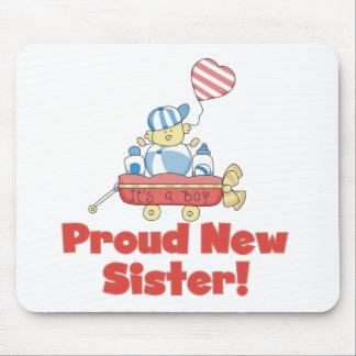 Wagon Proud New Sister Tshirts and Gifts Mousepad