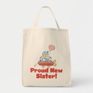 Wagon Proud New Sister Tshirts and Gifts Tote Bag