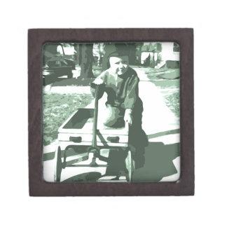 Wagon Ride Black and White Premium Keepsake Box