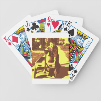 Wagon Ride Yellow Bicycle Poker Cards