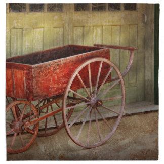 Wagon - That old red wagon Cloth Napkin