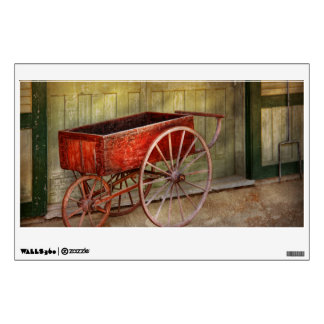 Wagon - That old red wagon Room Sticker