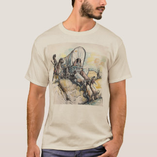 Wagon Train Drawing T-Shirt