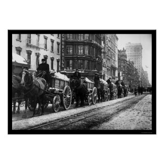 Wagon Train New York 1908 Poster