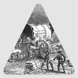 wagon-trains-1Lightning Express-Thayer.jpg Triangle Sticker