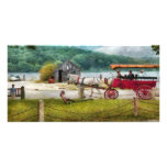 Wagon - Traveling in style Personalized Photo Card