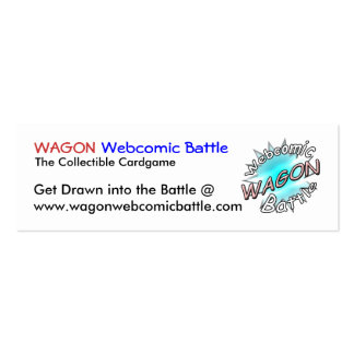 WAGON Webcomic Battle Cards Business Card Templates