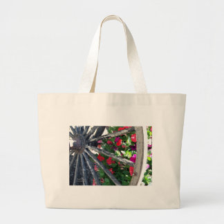 Wagon Wheel and flowers 2 Canvas Bags