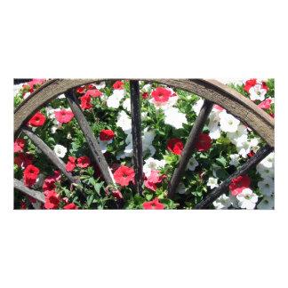 Wagon Wheel and Flowers 2 Card