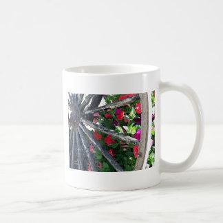 Wagon Wheel and flowers 2 Coffee Mug
