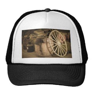 Wagon Wheel And Saddle Trucker Hat