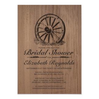 Wagon Wheel Bridal Shower Invitations