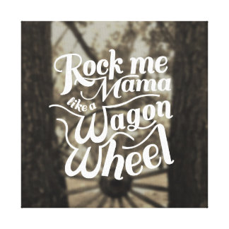 Wagon Wheel Stretched Canvas Prints