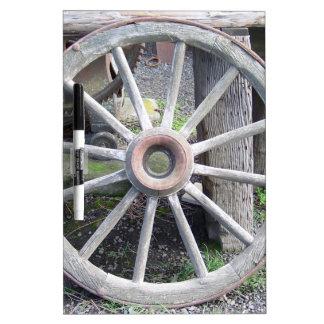 Wagon Wheel Dry-Erase Board