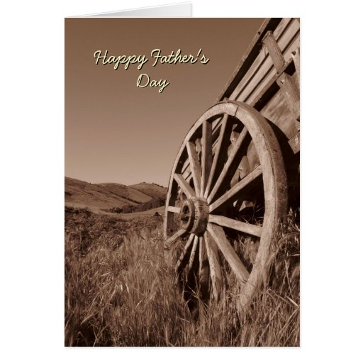 Wagon Wheel Father's Day Card