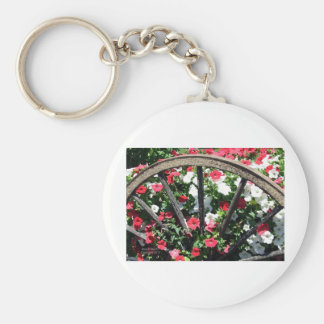 Wagon Wheel Flowers Keychain