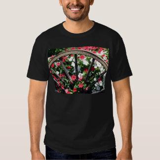 Wagon Wheel Flowers T Shirt