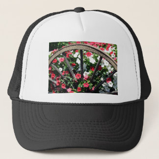 Wagon Wheel Flowers Trucker Hat