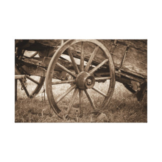 Wagon Wheel of the West Canvas Print