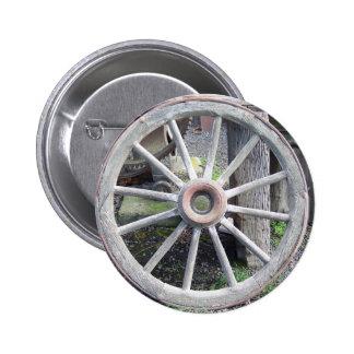 Wagon Wheel Pinback Button
