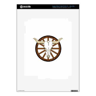 WAGON WHEEL SKULL DECALS FOR iPad 3