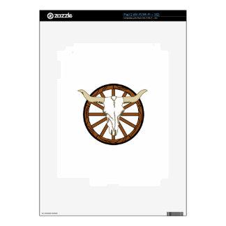 WAGON WHEEL SKULL iPad 2 DECAL