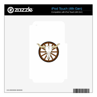 WAGON WHEEL SKULL SKINS FOR iPod TOUCH 4G