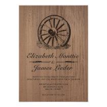 Wagon Wheel Wedding Invitations