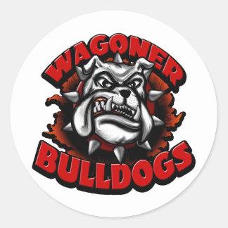 WagonerBulldogs1 Classic Round Sticker