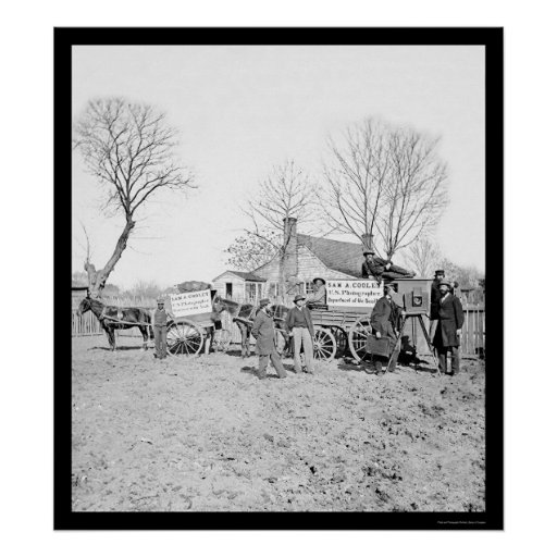 Wagons and Camera of Sam A. Cooley 1862 Posters