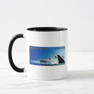 Wagons-Lit // Cook Cruise Ships Vintage Mug