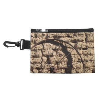 Wagonwheel on Brick Wall Accessory Bag