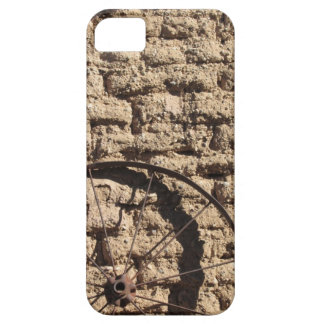 Wagonwheel on Brick Wall iPhone 5 Case